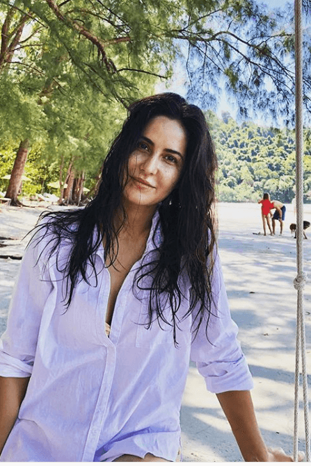 katrina kaif natural hair look