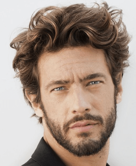 Men Messy Waves Hairstyles