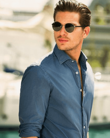 Men slick back Hairstyles