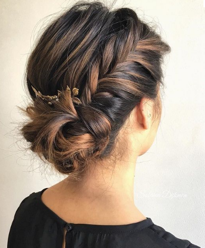 quick and messy braided bun