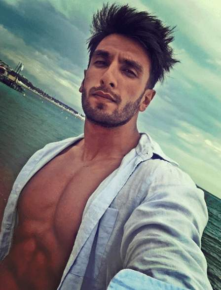 Ranveer Singh Side Sweep Hairstyles