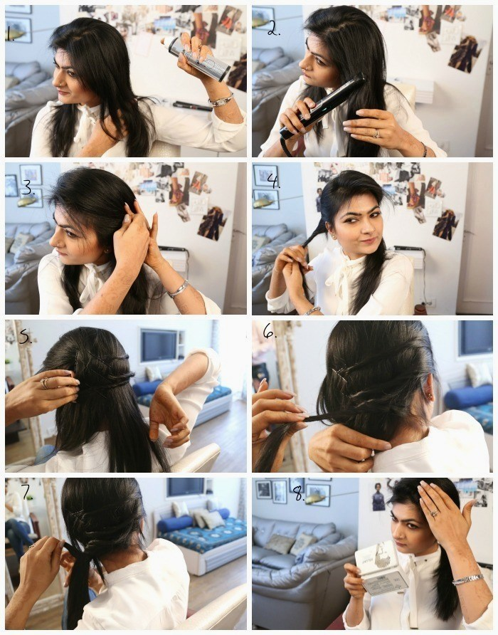 hair tutorial using bblunt styling products
