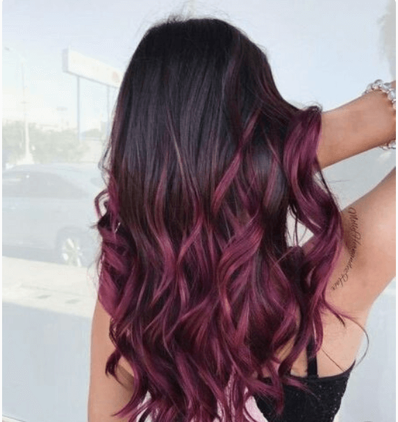 burgundy hair colour shade