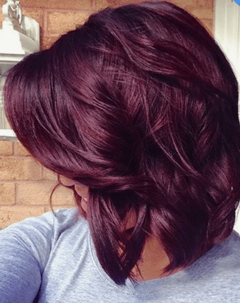 Best hair colour ideas - burgundy hair colour