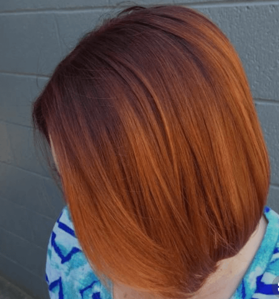 burnt orange hair colour shade