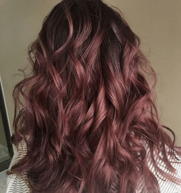 chocolate mauve hair colour shade