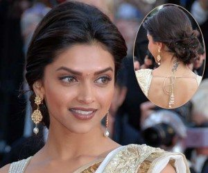 Deepika Padukone hairstyle - Hair Pulled Back