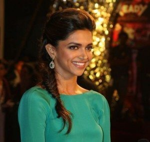 Deepika Padukone hairstyle - Braid Puff