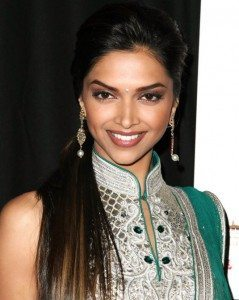 Deepika Padukone straight and sleek hairstyle