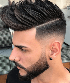 fade and tapered hairstyle for men