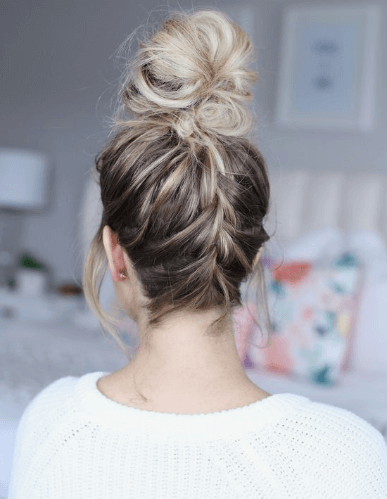 french top knot hairstyle