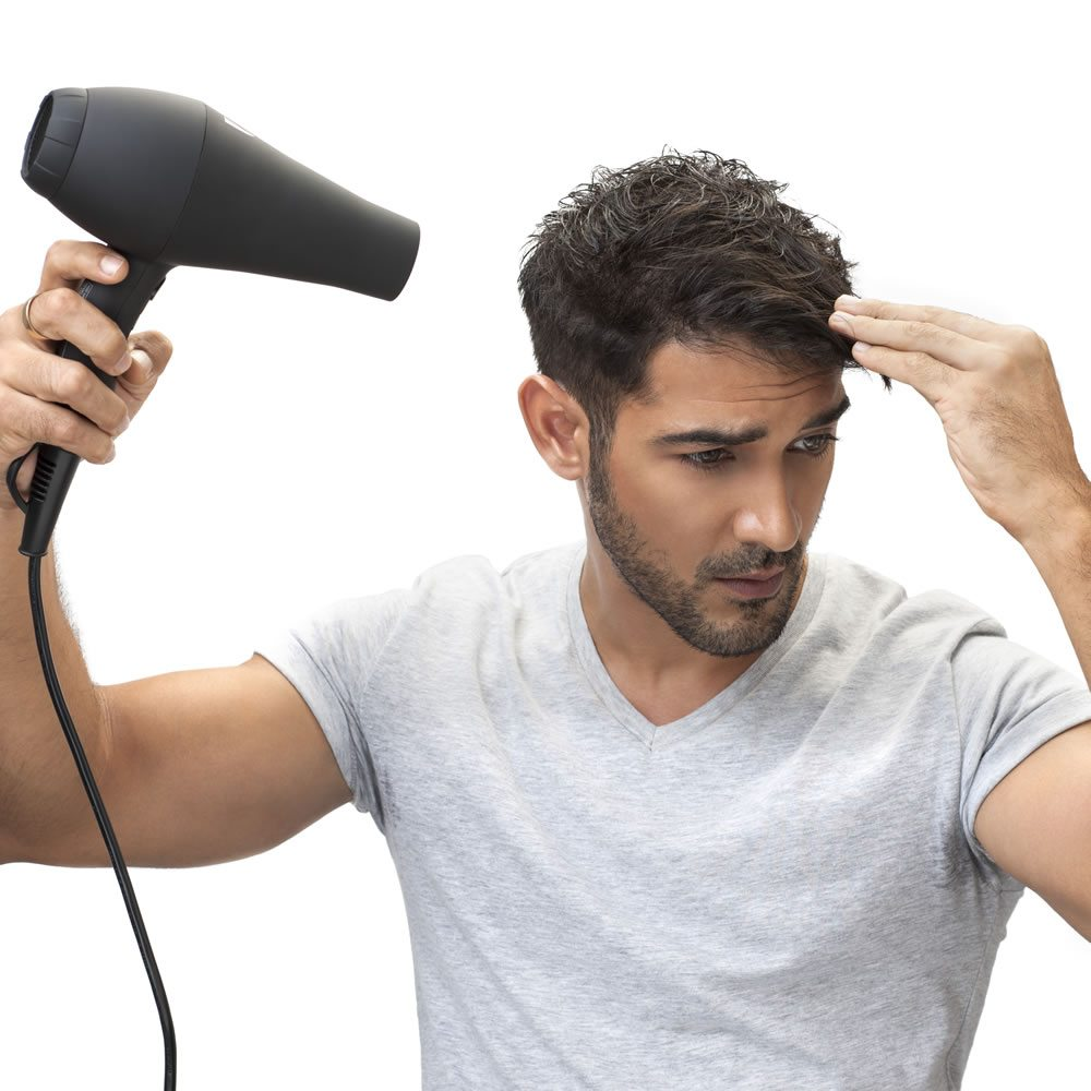 Step 1 - Wash & dry your hair completely using BBLUNT's iR Professional Hair Dryer.
