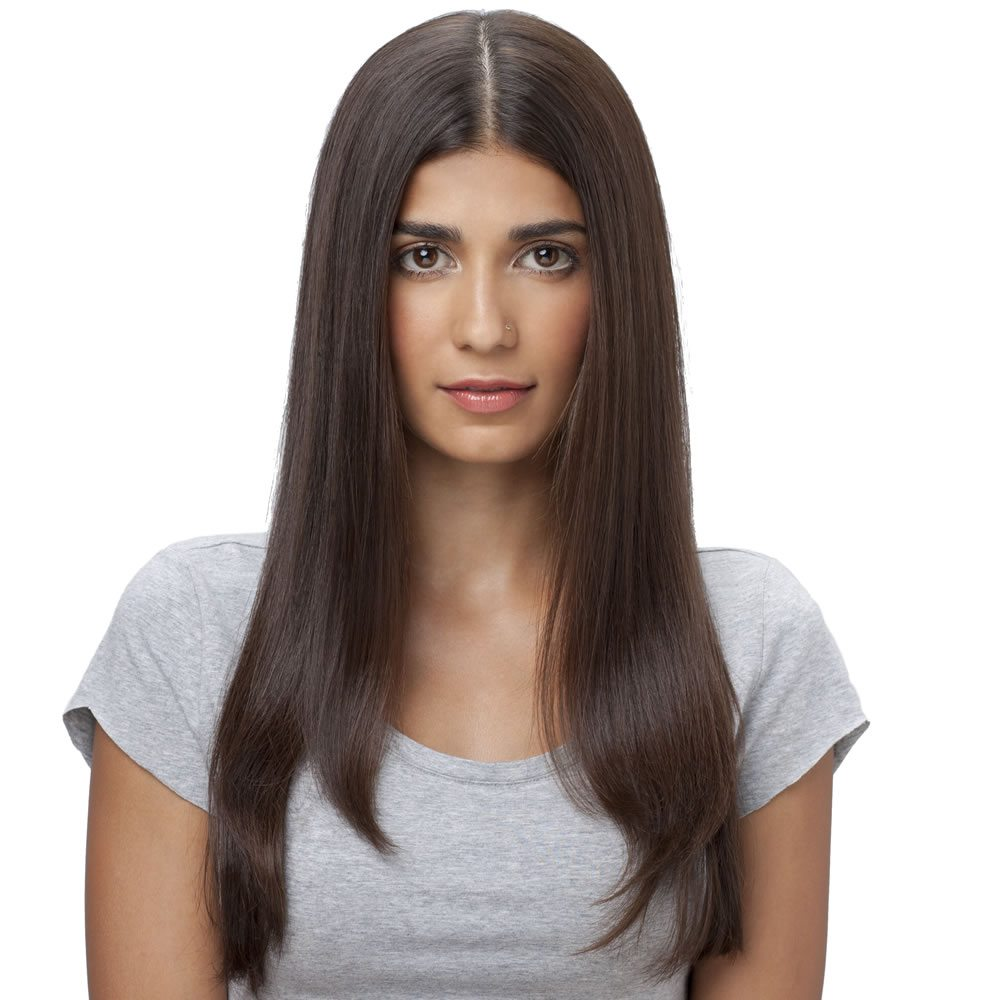 Step 1 Create a center parting and comb your hair away from your face. Use a small toothed comb to get a better partition and a neater look.