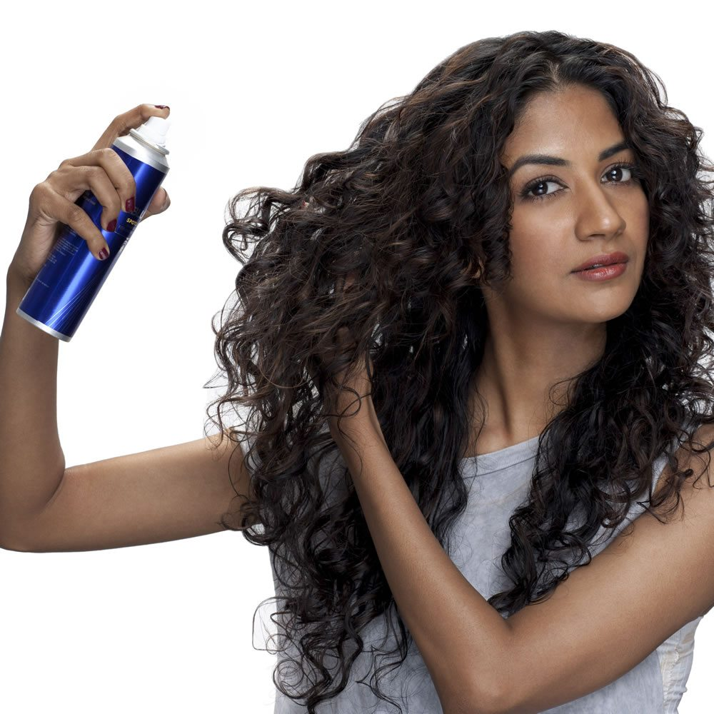 Step 4 Flip your head back up when it is almost dry. Using your fingers twirl sections of your hair around your finger to further enhance the natural movement. Spray a mist of BBLUNT's Spotlight Hair Polish for a glossy finished look. Your curls will shine just like you do!