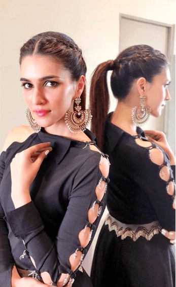 kriti sanon braided ponytail hairstyles