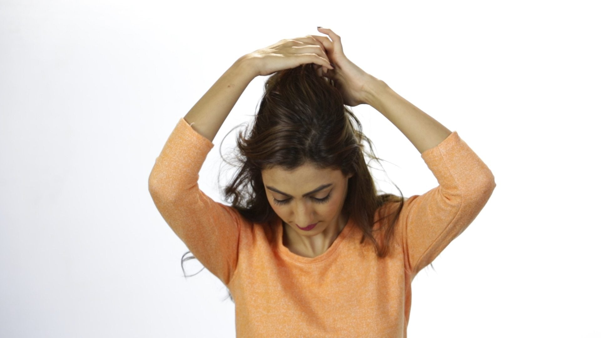 70's half up do hairstyle