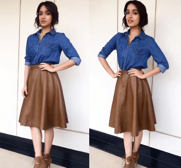 shraddha-Chic Look