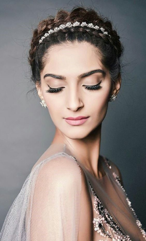 sonam kapoor -The Braided Bun Escapade