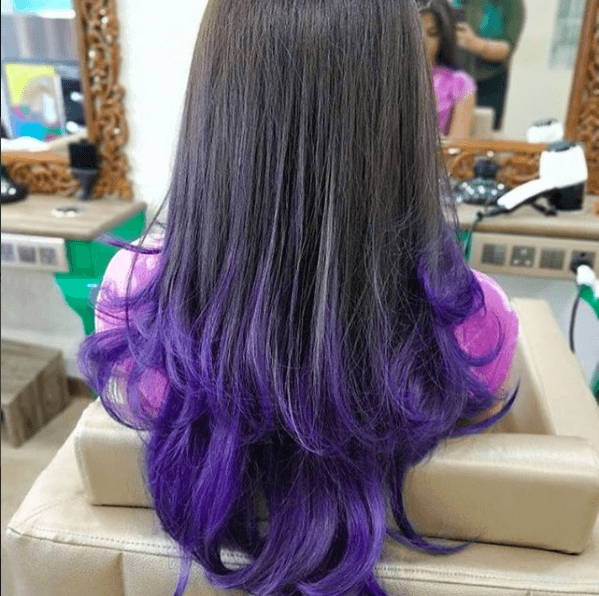 Best hair colour ideas - violet hair colour