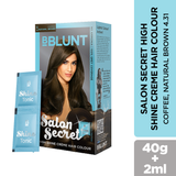 BBLUNT Salon Secret High Shine Crème Hair Colour Coffee Natural Brown 40g - BBLUNT
