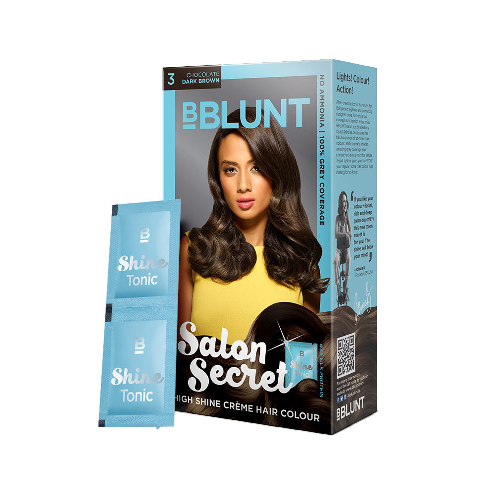 BBLUNT Salon Secret High Shine Crème Hair Colour Chocolate Dark Brown 40g