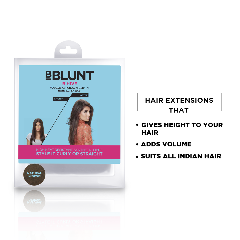 B Hive Volume On Crown Clip-In Hair Extension