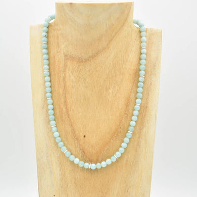 Collier Amazonite perles 6mm taille 42