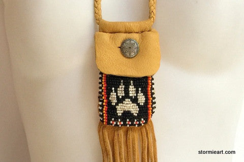 Black Wolf Paw Pouch