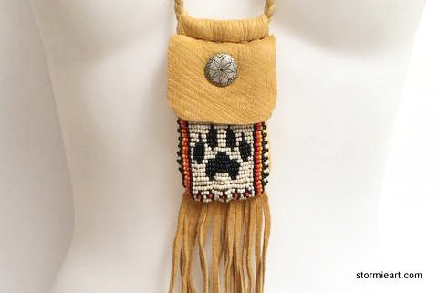 White Wolf Paw Pouch