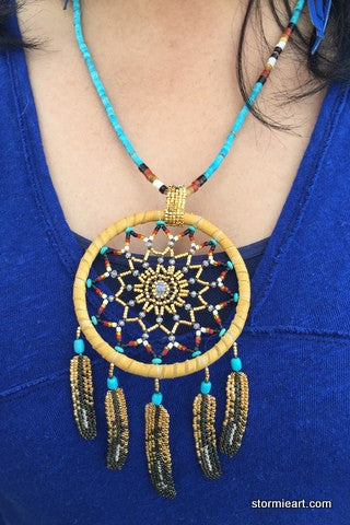 Full Moon Dreamcatcher Necklace