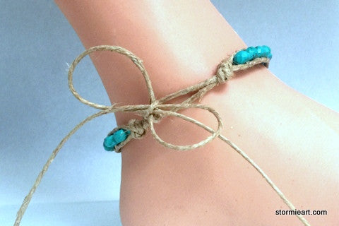 Turquoise Summer Anklet