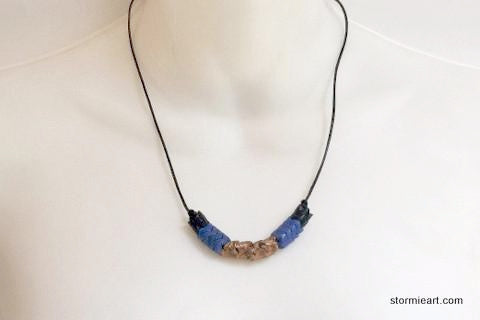 Blue Vertebrae Necklace