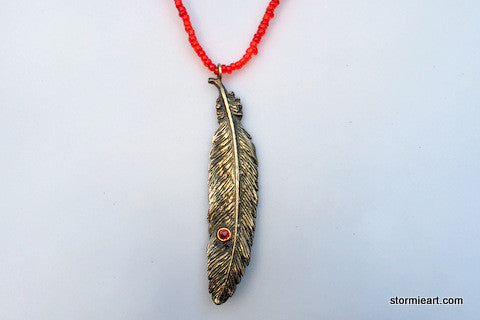 Hawk Feather Necklace