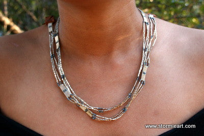 Liquid Silver Wrap Necklace