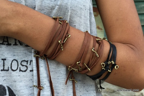 Key To Love Wrap Bracelet