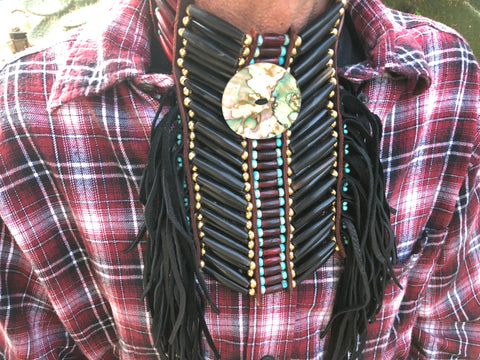 Steel Beaded Native Choker