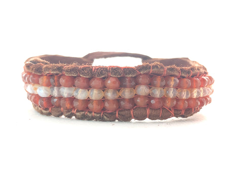 Rhodonite Bone Bracelet