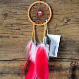 Red Chrystal Heart Center Dreamcatcher