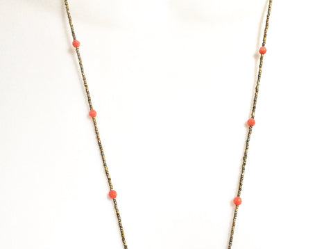 Red Jasper Arrow Necklace