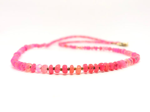 Hot Pink Opal Necklace