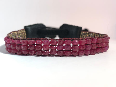 Ruby Arrow Bracelet