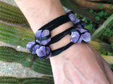 Amethyst Leather Bracelet