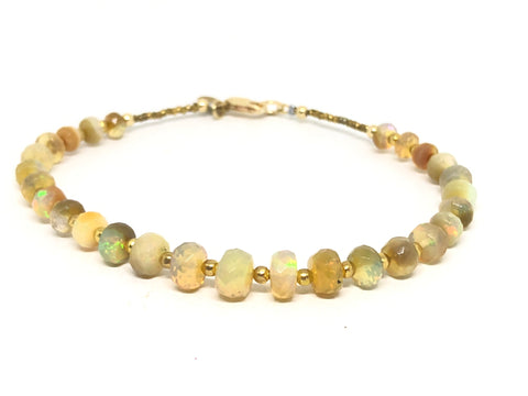 Golden Fire Opal Bracelet