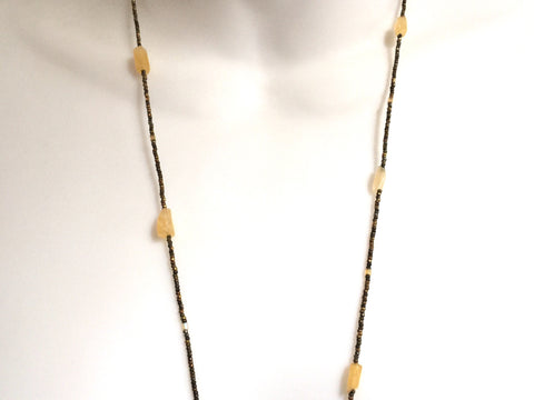 Antique Citrine Necklace