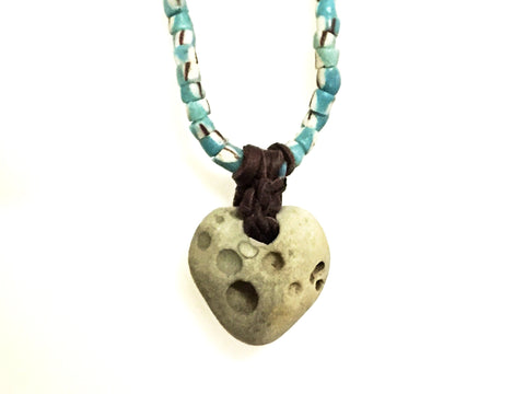 Sand Cast Heart Necklace