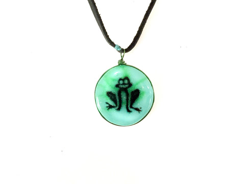 Frog Art Necklace