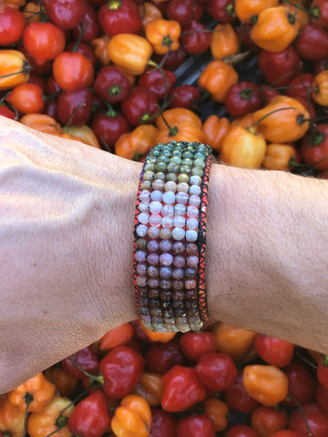 Purple Plum Agate Vegan Bracelet