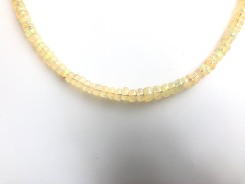 Yellow Fire Opal Necklace