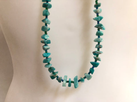 Chrysocolla in Quartz Necklace