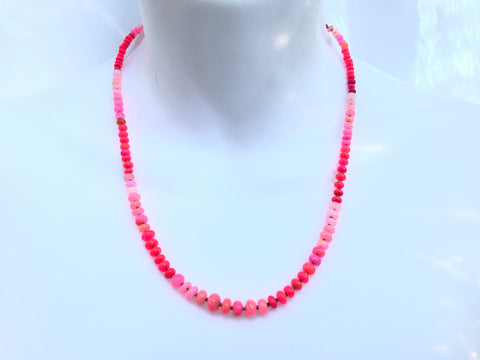 Luminous Radiate Pink Opal Necklace